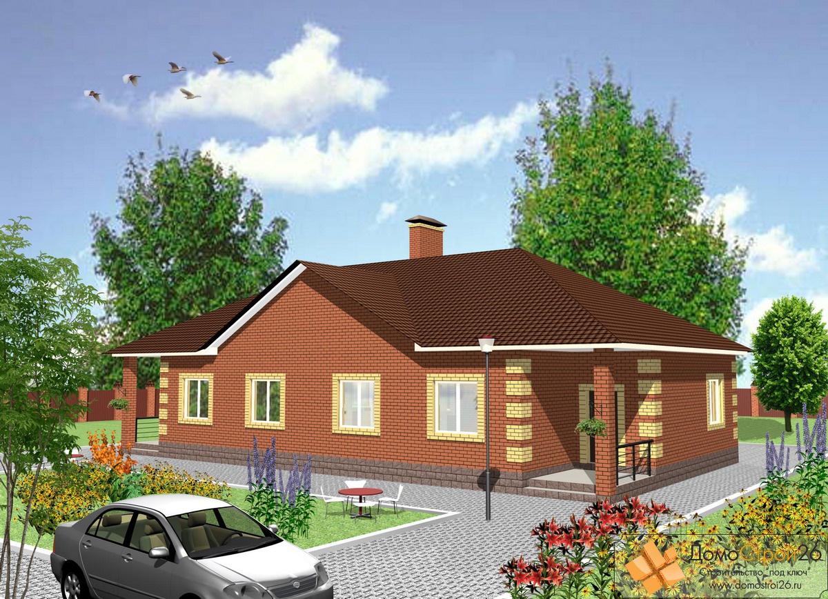 Проект деревянного дома одноэтажного на двуххозяев 44